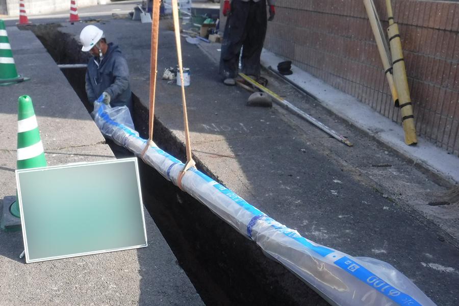 水道布設工事